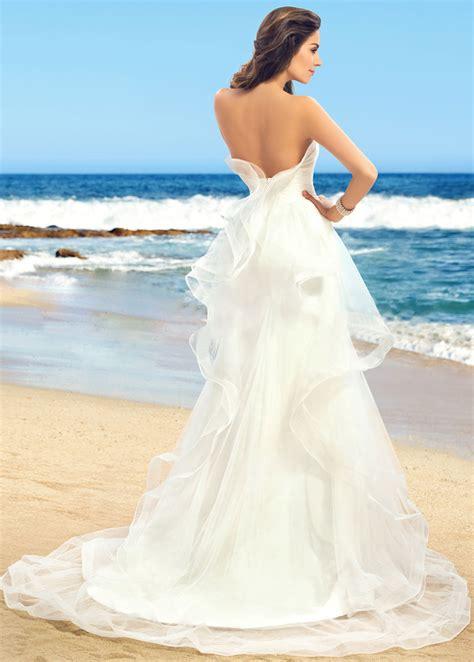 strand brautkleid rüschen rückenfrei tüll lange natürliche taille strand brautkleid 7kleid de