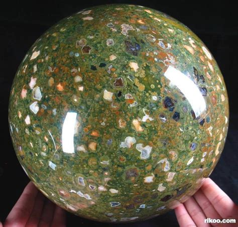 titan  rainforest jasper sphere crystal ball