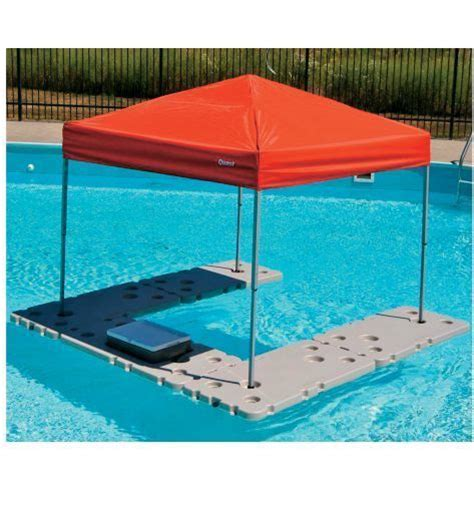 table canape floating shade canopy table river pool lake cooler