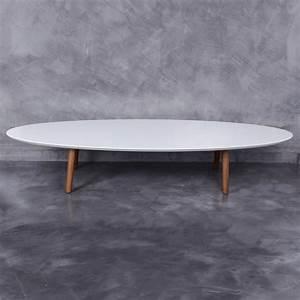 Table Basse Ovale Blanche : table basse blanche ovale hoze home ~ Teatrodelosmanantiales.com Idées de Décoration