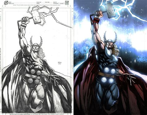 before and after of thor by arfel1989 on deviantart
