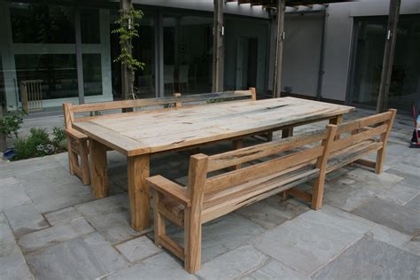 table and bench oak garden table and benches