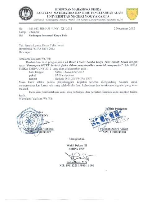 surat undangan resmi  besar finalis lktif himafisika uny