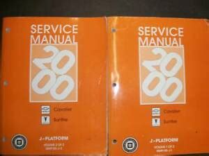 service manuals schematics 2001 chevrolet cavalier electronic toll collection 2000 chevy cavalier pontiac sunfire service manual ebay