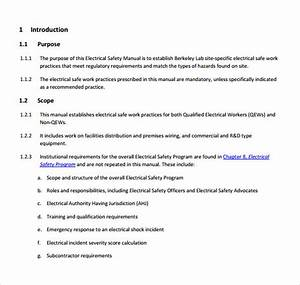 Free 14  Safety Manual Samples In Pdf