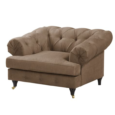 fauteuil thory aspect cuir vieilli marron clair ars manufacti previtech