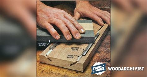 planer blade sharpening jig woodarchivist