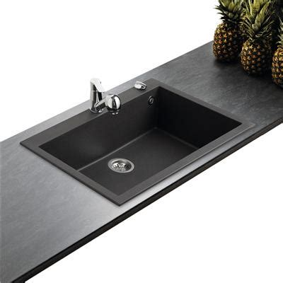 evier cuisine grande cuve évier en granit noir moucheté 1 grande cuve 79 4x50 4cm