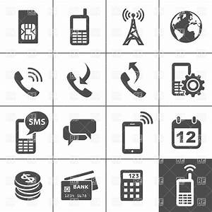 Mobile account management and services icons Royalty Free ...