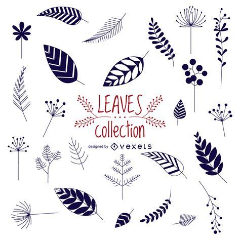 Colección de hojas dibujadas a mano Descargar vector