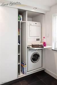 Waschmaschine Auf Trockner Stapeln : mooi weg gewerkt achter schuifdeuren bijkeuken pinterest waschk che badezimmer und w sche ~ Markanthonyermac.com Haus und Dekorationen