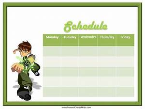Weekly Chore Chart For Kids Weekly Schedule Template