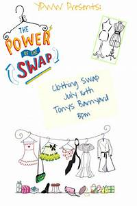 How To Make Promotional Flyers Clothing Swap Template Postermywall
