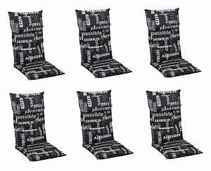 Auflagen Für Gartenstühle Hochlehner : 6x 5106 hochlehner gartenstuhl auflagen 8cm kopfkissen ~ Watch28wear.com Haus und Dekorationen