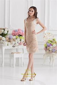 Short Champagne Colored Prom Dresses,Champagne Short ...