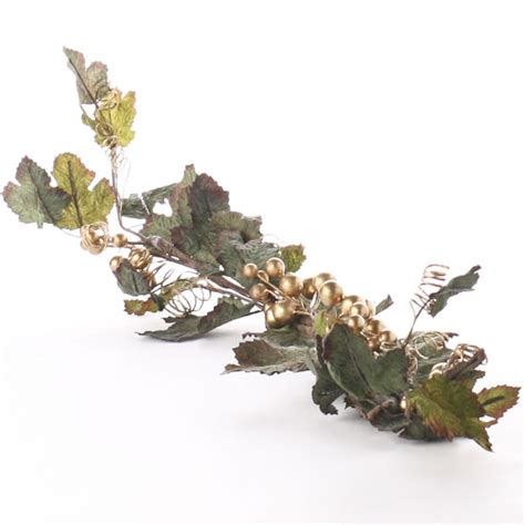 tuscan gold artificial grape swag sprays garlands swags
