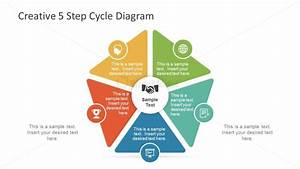 5 Step Powerpoint Cycle Diagram