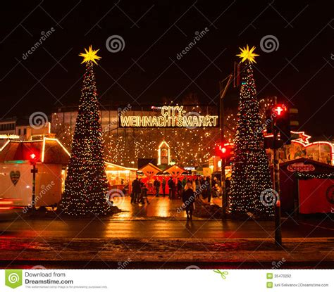 Celebration Decorations by Christmas Festival Market In Berlin Stock Photography