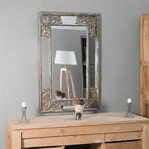 Miroir Deco Salon : miroir d co en bois patin mathilde bronze 1m10 x 70cm ~ Melissatoandfro.com Idées de Décoration