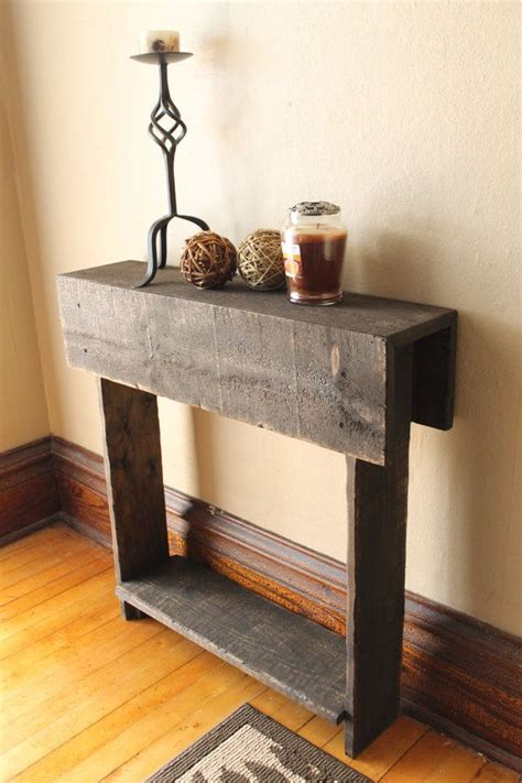 rustic wood entry table rustic entry table reclaimed wood table entry way shoe