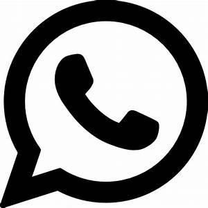 Social media Whatsapp Flat Black Icon