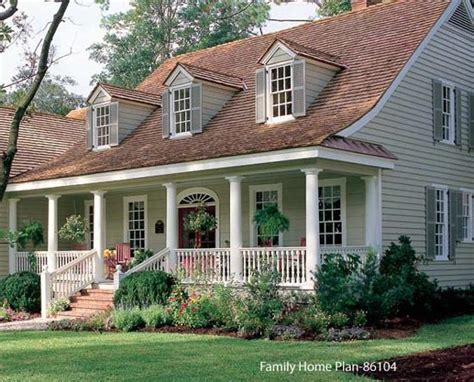 Amazing House Plans With Front Porches #12 Cape Cod Houses