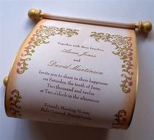 items similar to rustic wedding invitation scroll With scroll beach wedding invitations