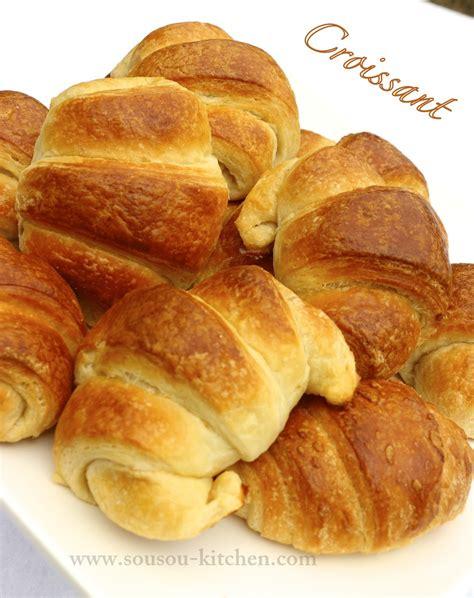 recette pate a croissant recette croissants facon boulangerie et recette de pate feuilletee sousoukitchen