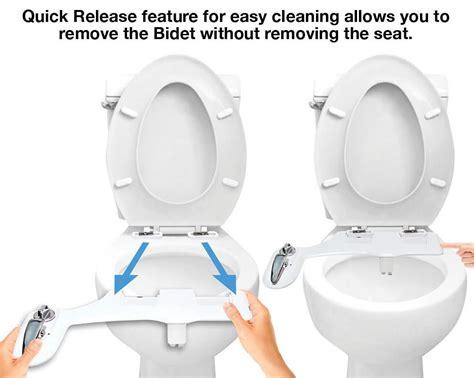 Hot Water Bidet Attachment + Toilet Night Light + Quick