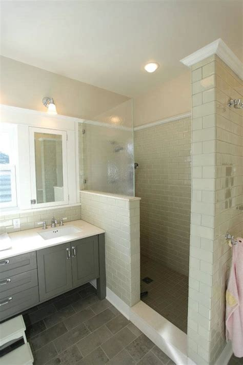 Bathroom With Beige Tiles What Color Walls by Bathroom Gray Staggered Tiles Pictures Decorations