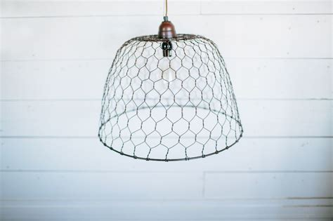 chicken wire pendant light the magnolia market show