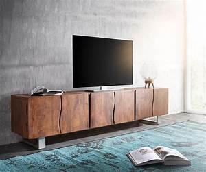 Tv Lowboard 250 Cm : lowboard live edge 220 cm akazie braun massiv 6 t ren m bel tische fernsehtische ~ Bigdaddyawards.com Haus und Dekorationen