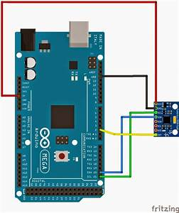Arduino With Triple Axis Accelerometer And Gyro Breakout