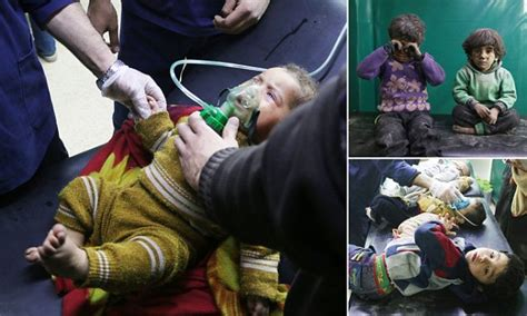 syrian children victims  government chlorine gas attack