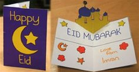 lovely handmade eid card designs easy  simple paper