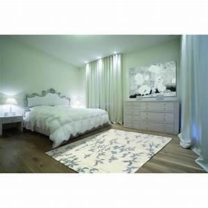 Tapis Blanc Et Gris : tapis de chambre blossom blanc et gris par angelo ~ Melissatoandfro.com Idées de Décoration