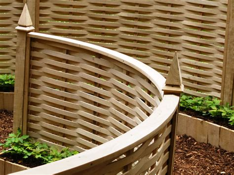Curved Trellis Fencing by Gallery Quercus Fencing Quercus Fencing