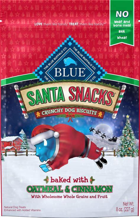 blue buffalo holiday santa snacks  oatmeal cinnamon
