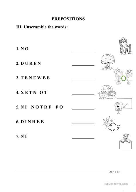 preposition worksheet worksheet free esl printable
