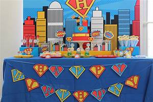 Superman Birthday Party on Anders Ruff