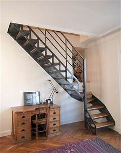 Escalier Bois Quart Tournant : 25 best ideas about escalier quart tournant on pinterest ~ Farleysfitness.com Idées de Décoration