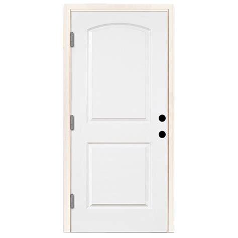 32 x 79 exterior door jeld wen 32 in x 79 in flush primed white steel prehung
