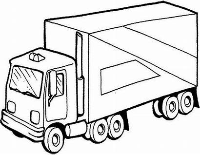 Semi Coloring Truck Pages Drawing Trucks Trailer