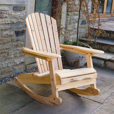 bowland outdoor garden patio wooden adirondack rocker