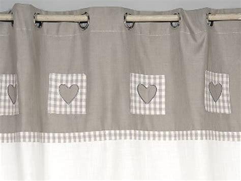 finest rideau cuisine beige rideau occultant blanc et gris curs simla dco rideau coeur with