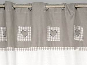 Rideau Gris Et Blanc : rideau blanc et gris coeurs simla neuf ebay ~ Dailycaller-alerts.com Idées de Décoration