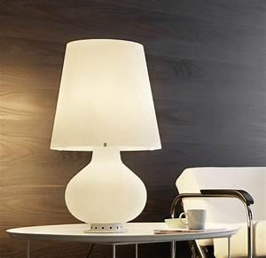 Lampe à Clipser : lampe poser fontana blanc h78cm fontana arte luminaires nedgis ~ Teatrodelosmanantiales.com Idées de Décoration