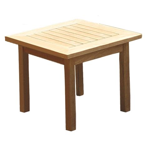the royal teak miami 20 quot sq end table works great with our