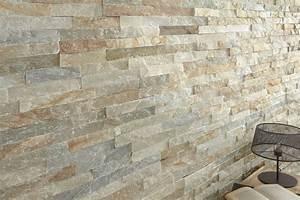 Pierre Parement Extérieur : plaquette de parement slim stone beige bricoman ~ Nature-et-papiers.com Idées de Décoration