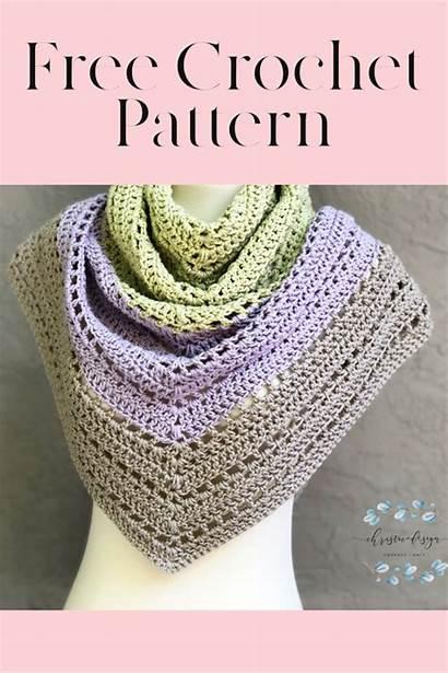 Shawl Crochet Pattern Triangle Christacodesign Lilla Sewing